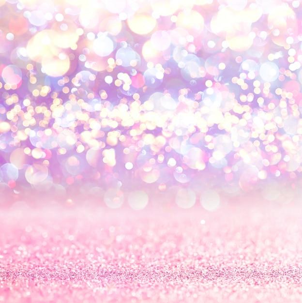 Rosa funkelnlichter bokeh hintergrund. defokussiert Premium Fotos