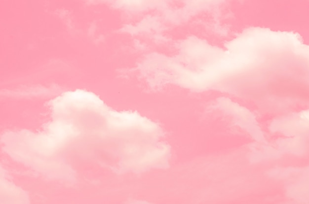 Rosa himmel mit unscharfem musterhintergrund Premium Fotos