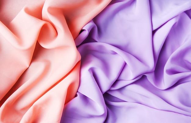 Rosa und lila stoffe Premium Fotos