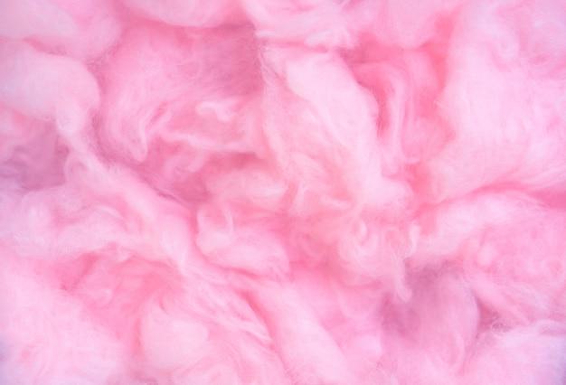 Rosa watte hintergrund, abstrakte flauschige weiche farbe süße zuckerwatte textur Premium Fotos