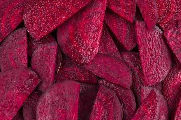 Rote-bete-wurzeln schneiden draufsicht Kostenlose Fotos
