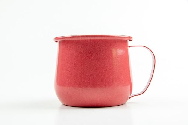 Rote blechbecher. Premium Fotos