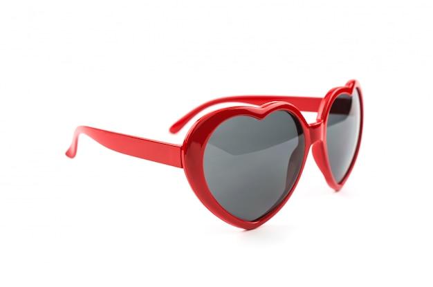 Rote herzförmige sonnenbrille Premium Fotos