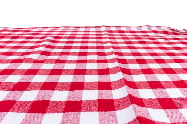 Rote karierte küchentuchperspektivenansicht Premium Fotos