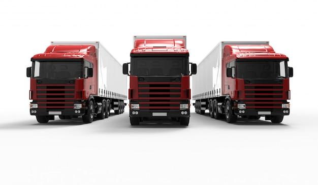 Rote lastwagen Premium Fotos