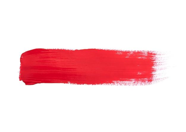 Rote pinselstriche lokalisiert auf weiß Premium Fotos