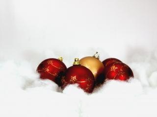 Weihnachtskugeln Hintergrund Kostenlos