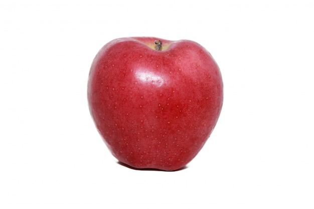Roter apfel in weiß Premium Fotos
