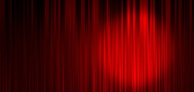 Roter bühnenvorhanghintergrund Premium Fotos