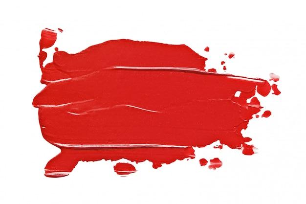 Roter lippenstiftfleck lokalisiert auf weiß Premium Fotos