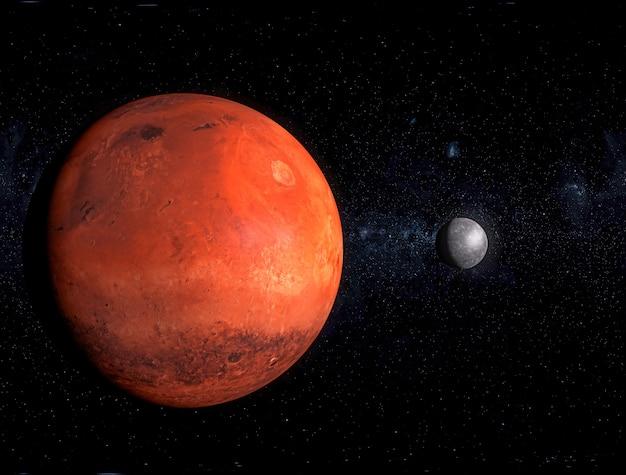 Roter planet, galaxie Premium Fotos