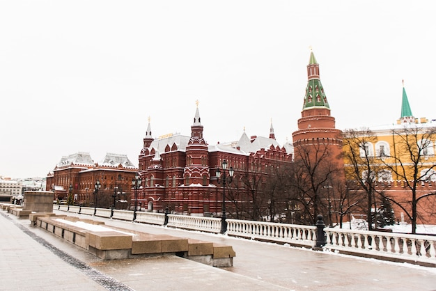 Roter platz, winter. moskau, russland. Premium Fotos