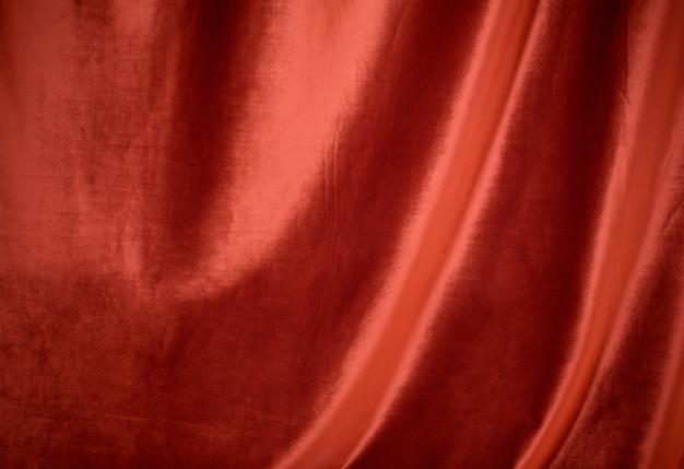 Roter samtstoff Premium Fotos