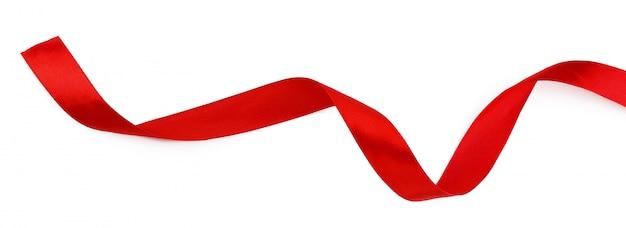 Rotes band isoliert auf weißem hintergrund Premium Fotos