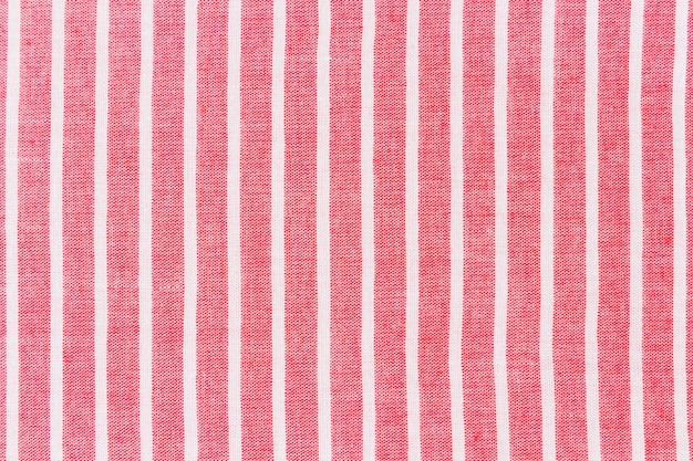 Rotes gewebe mit weißer linie musterhintergrund Kostenlose Fotos