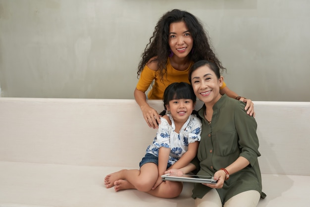 Ruhende familie Kostenlose Fotos