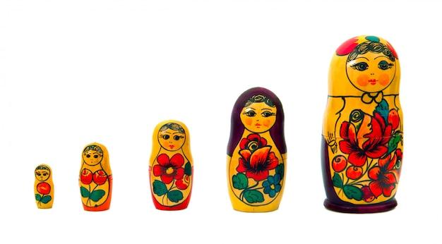 Russische familie gesetzt dol Premium Fotos