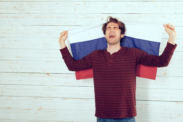 Russland fußballfan Premium Fotos