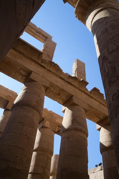 Säulen des karnak-tempels Kostenlose Fotos