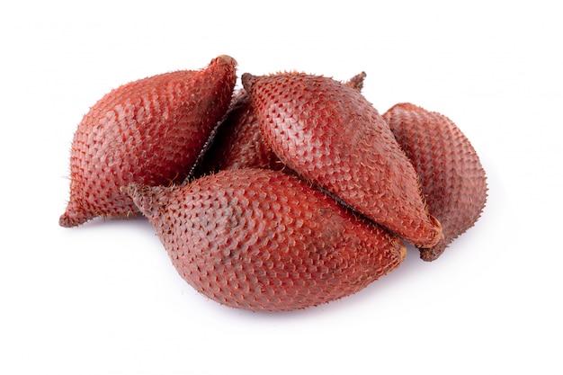 Salak-schlangenfrucht lokalisiert Premium Fotos