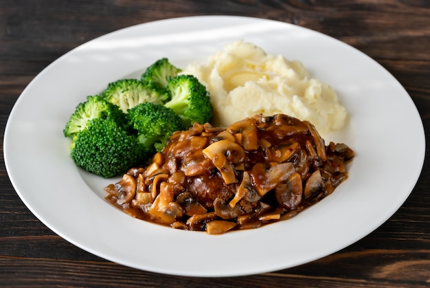 Salisbury steak Premium Fotos
