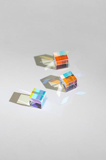 Sammlung von abstraktem prisma und licht Kostenlose Fotos