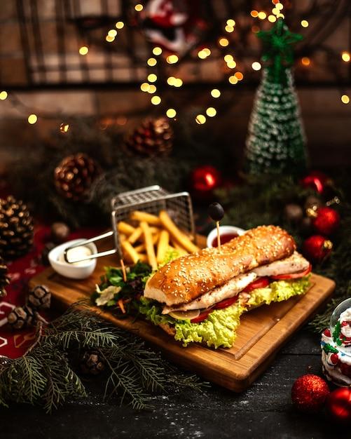 Sandwich mit pommes _ Kostenlose Fotos