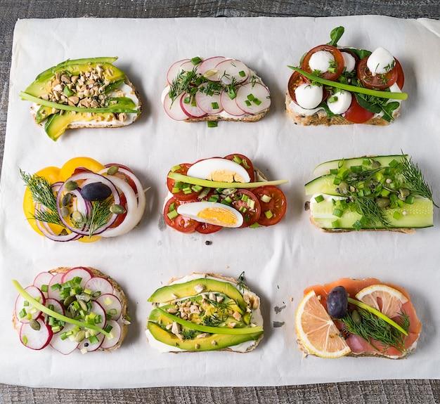 Sandwiches mit brot Premium Fotos