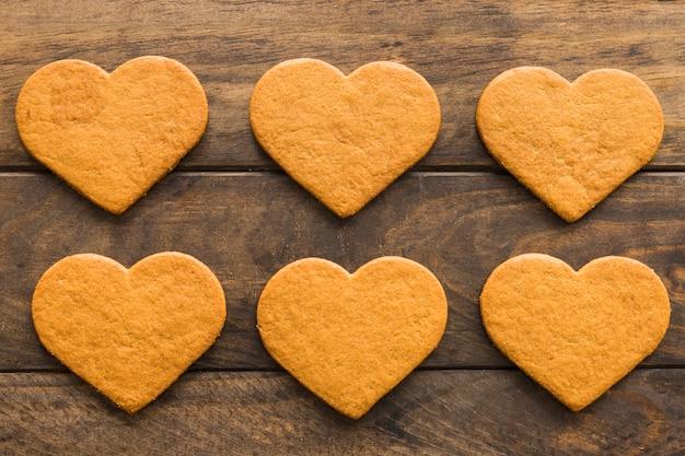 Satz frische köstliche kekse Kostenlose Fotos