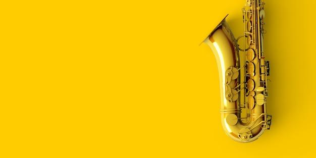 Saxophon aus gelbgold Premium Fotos