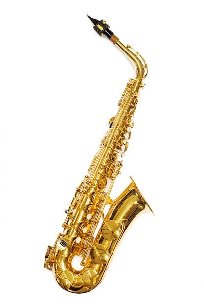Saxophon jazz instrument isoliert Premium Fotos