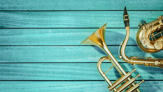 Saxophon und trompete Premium Fotos