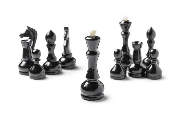 Schach, isoliert auf weiss Premium Fotos