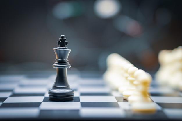 Schachbrettspiel für leadership concepts Premium Fotos