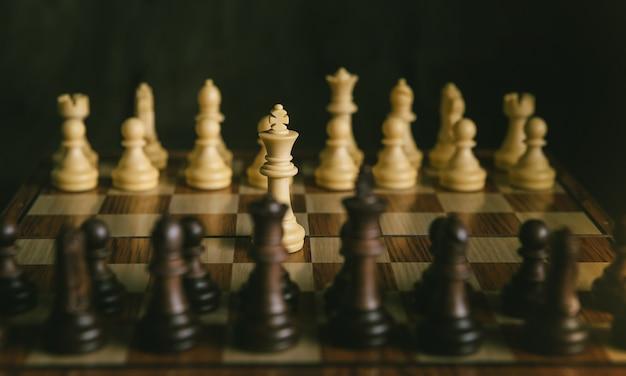 Schachspiel Premium Fotos