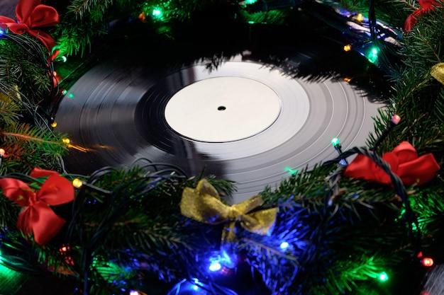 Schallplatte im weihnachtsstil Premium Fotos