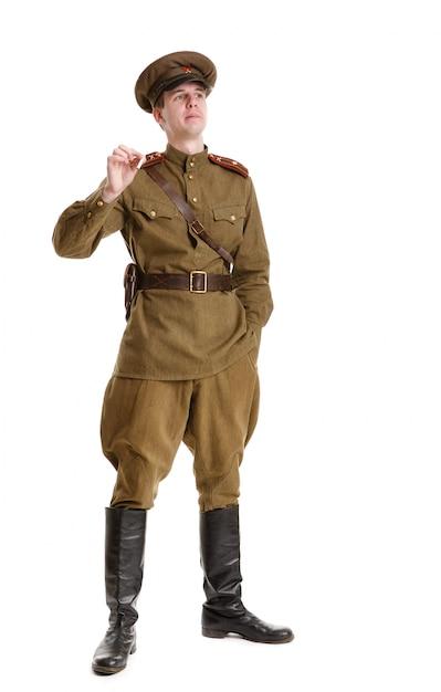 Schauspieler in militäruniformen im zweiten weltkrieg Premium Fotos