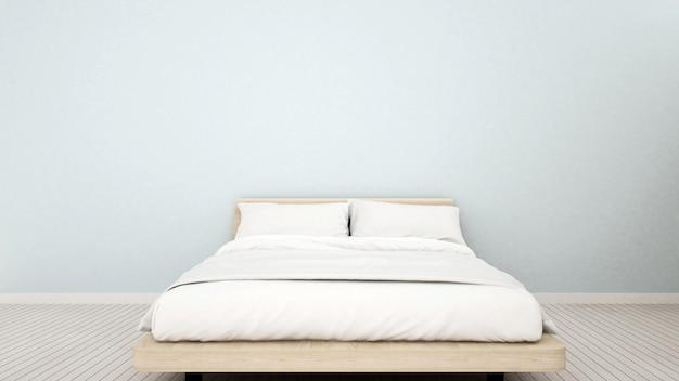 Schlafzimmer in der wohnung oder zu hause Premium Fotos