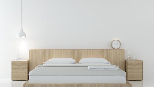 Schlafzimmer-Innenraum japanische minimale Art -3D, die Dekoration ...