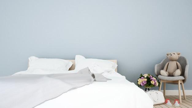Schlafzimmer und kinderraum zu hause Premium Fotos