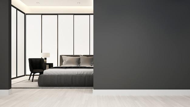 Schlafzimmer und wohnzimmer im hotel oder in der wohnung - innenarchitektur Premium Fotos