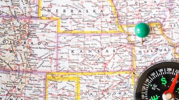 Schließen sie herauf karte der vereinigten staaten von amerika Kostenlose Fotos