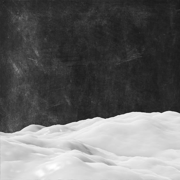 Schnee 3d auf einem schmutzbeschaffenheitshintergrund Kostenlose Fotos