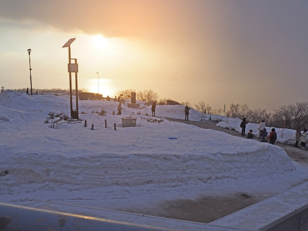 Schnee am berg. Premium Fotos