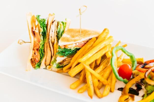 Schnelle sandwich frisch club huhn Kostenlose Fotos
