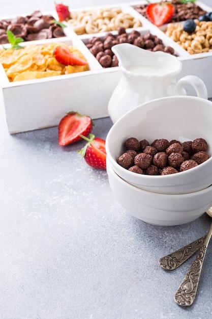 Schnelles frühstückszerealien Premium Fotos