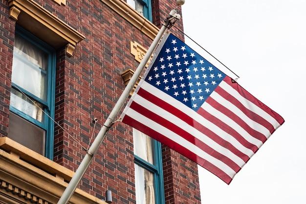 Schöne amerikanische oder usa-flagge Kostenlose Fotos