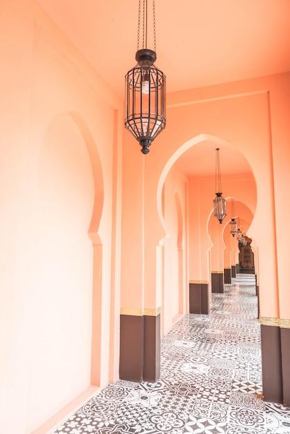 Schöne architektur im marokko-stil Premium Fotos