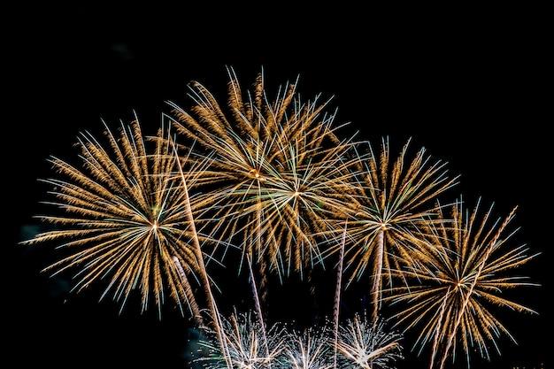 Schöne bunte feuerwerksanzeige nachts für feiern Kostenlose Fotos