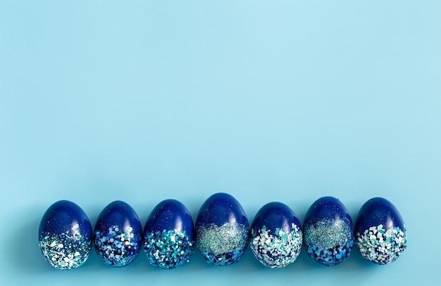 Schöne dekorative eier osternblau. Kostenlose Fotos